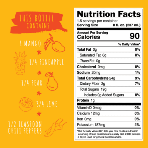 Spicy Mango Nutrition Ingredients